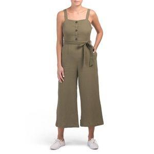 Rachel Zoe Olive Green Crepe Jumpsuit - 10